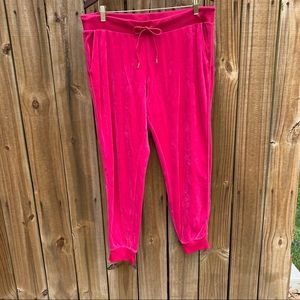Juicy Couture Hot Pink Velour Pants XL